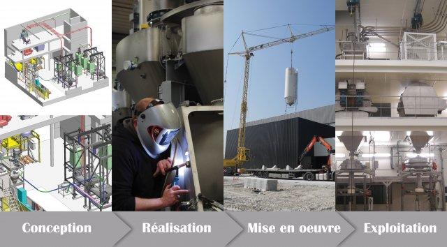 realisation complete ligne production palamatic